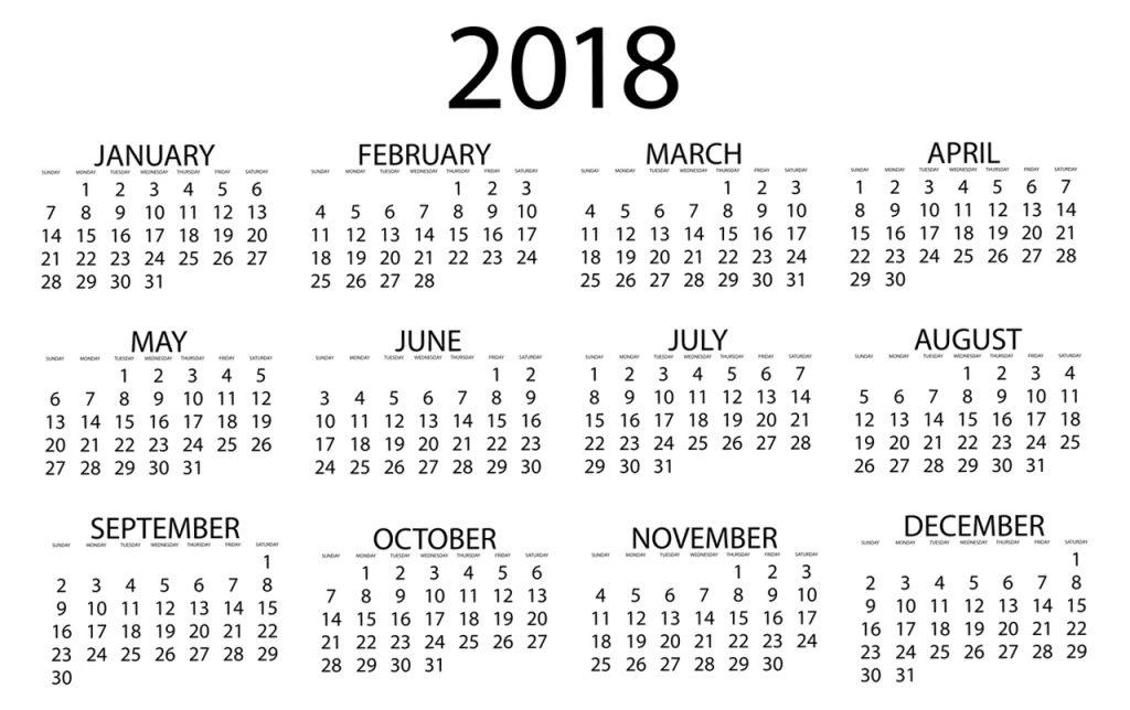 Calendario de d as inh biles para 2018 torrijos asesores for Calendario de pared 2018